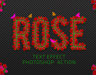 Rose Flowers Text Effect