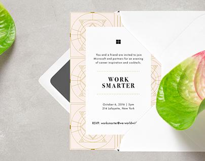 Microsoft Work Smarter Event Branding & Invite