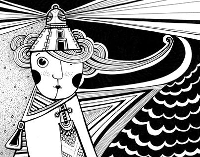 Ilustracje w kresce - czarno-białe