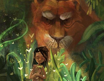 CHILDREN ILLUSTRATIONS. The jungle book.