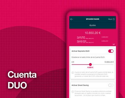 DUO Account App (UX / Design concept)