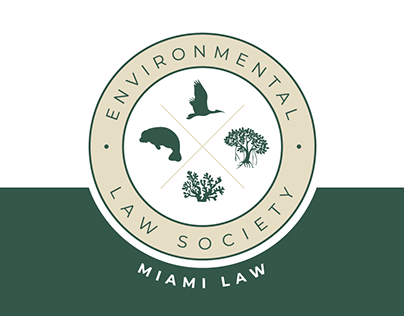 Miami Law Environmental Law Society Logo Design