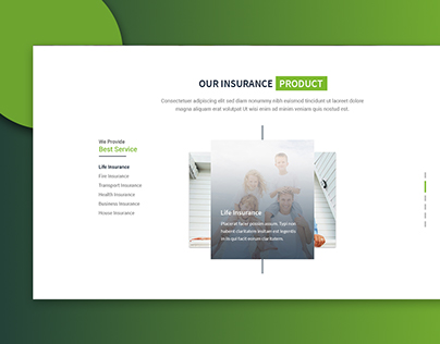 Insurance Product Section