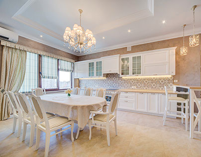 Реализация проекта квартиры в классическом стиле.