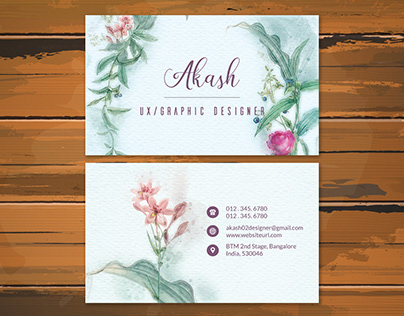 Ultra detail watercolor business card