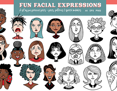 Fun Facial Expressions Set