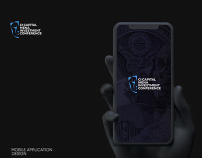 CI CAPITAL Mobile App Design