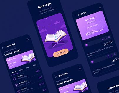 Quran App Concept (Dark Mode)