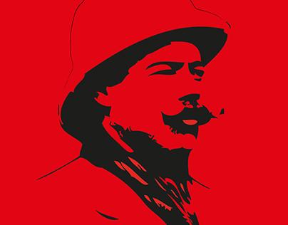 Francisco Villa Illustration Portrait