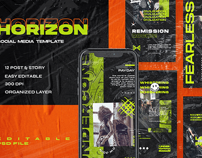 Horizon Social Media Template