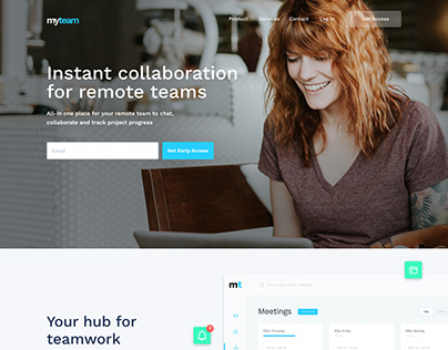 MyTeam web design