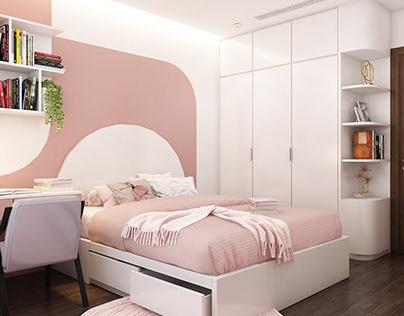 3D Interior Scenes File 3dsmax Model Bedroom Girl 233