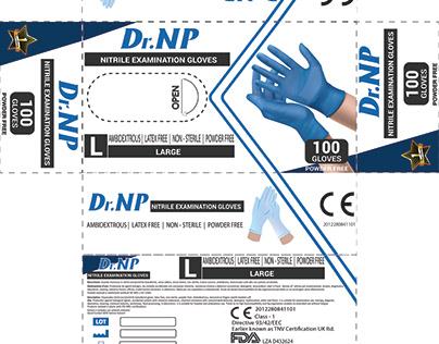 DR.NP Medical gloves packaging