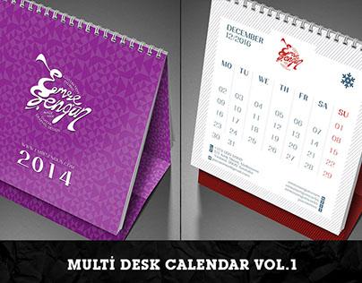 Multi Desk Calendar Vol.1