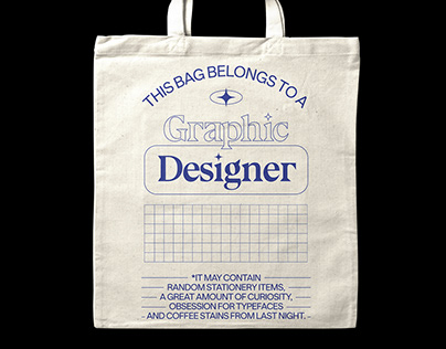 This bag belongs to a Graphic Designer™