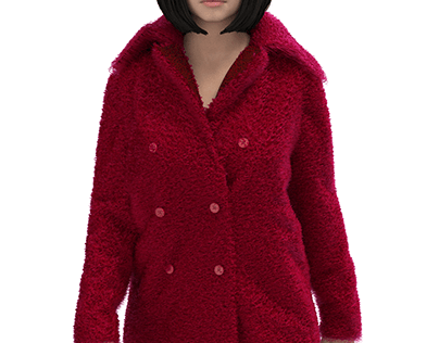 Double-sided red coat