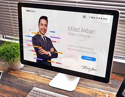 Milad akbari website design