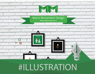 Wall of illustrations VO. 1 - Mario Movement