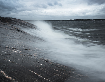 Photographing the coast of Finland