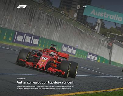 Formula One 2018 - Webdesign