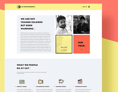 CAT Entertainments website UI/UX design by Tecort