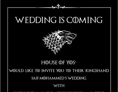 Game of Thrones wedding invite :)