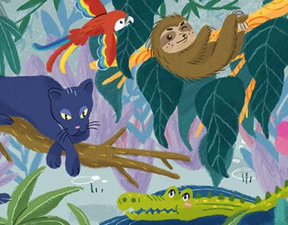 Animals in their habitat