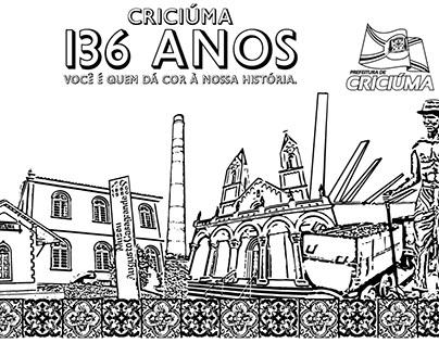 Prefeitura de Criciúma - Anúncio para colorir