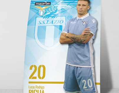 S.S. Lazio Player's Postcard
