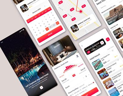 Trending Hotel Booking App UI Design