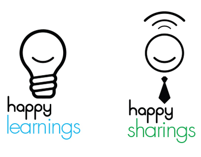 Happy Learnings / Happy Sharings - Logo