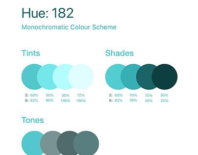 Monochromatic colour scheme