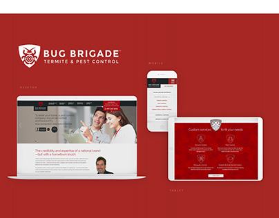 Bug Brigade Logo & Website Design