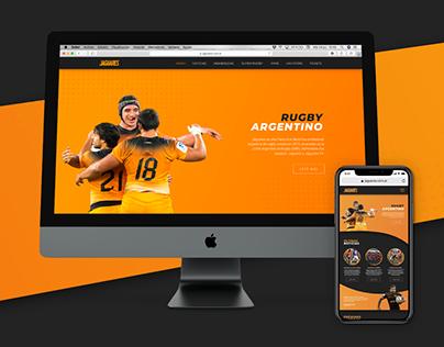Rediseño de página web - Jaguares Rugby