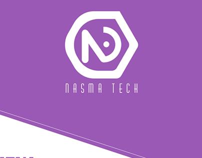 Nasma Tech Logo l نسمة التقنية شعار