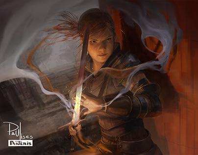Determined Pyromancer Romiry