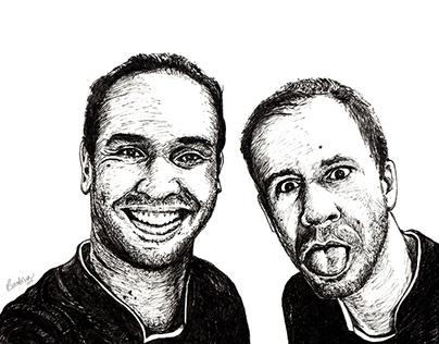 Caio Riveiro & Tiago Leifert Portrait