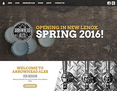 Arrowhead Ales Website Redesign & Development