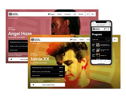 Lucerna Music Bar – website redesign