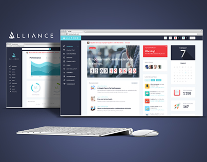 Alliance | Intranet & Extranet WordPress Theme on Behance