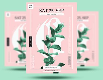 Free Green Flyer Design Template