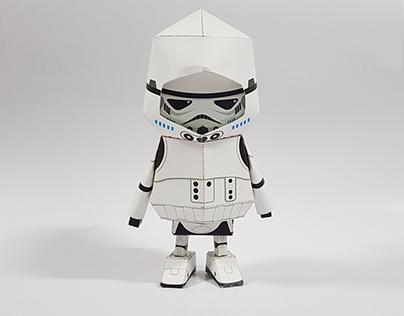 028_ Stormtrooper [Paper Toy Boogie Hood]