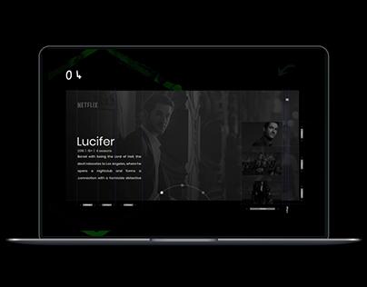 Netflix website concept