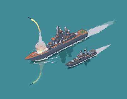 Pixel warship