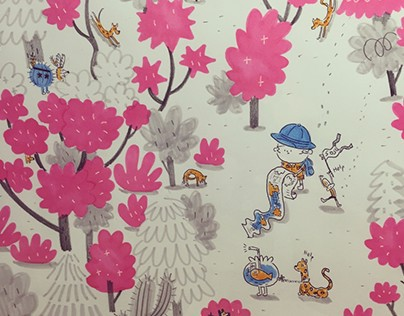 THOMAS&RONNI 'PINK FOREST'