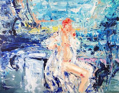 Pregnant Woman (2015, acrylics)