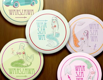 Warsaw Mermaid Magnets