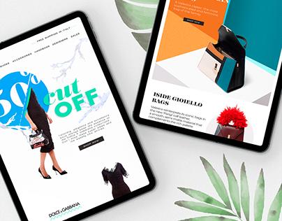 Newsletter Design For A Luxury Online Shop