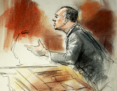Courtroom Art, private commissions & television news