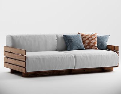 Wood Pallet Sofa